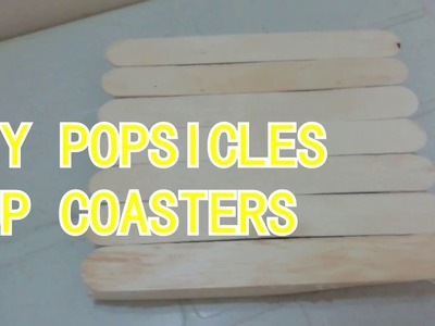 DIY Popsicle Cup Coasters-How To Make Easy Coasters