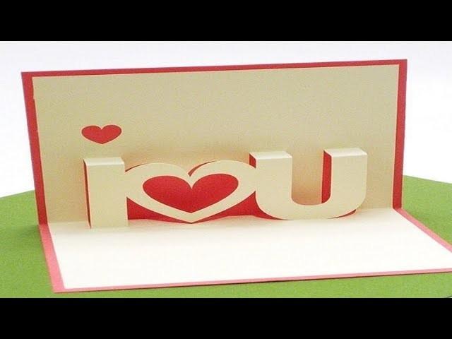 Diy Valentines Day Pop Up Card Diy Anniversary Cards Love Gift Idea
