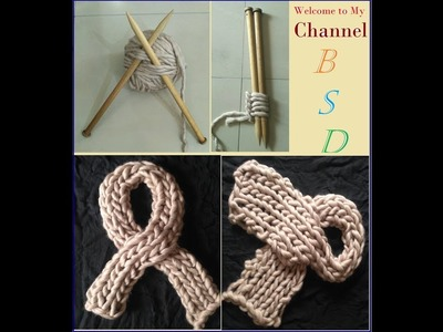 Easy Muffler design knitting | in Hindi | | Ladies Scarf | BSD |
