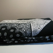 Modern handmade western style bandana quilt 100 % cotton large lap twin size ready to ship
