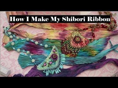 How I Make My Shibori Ribbon