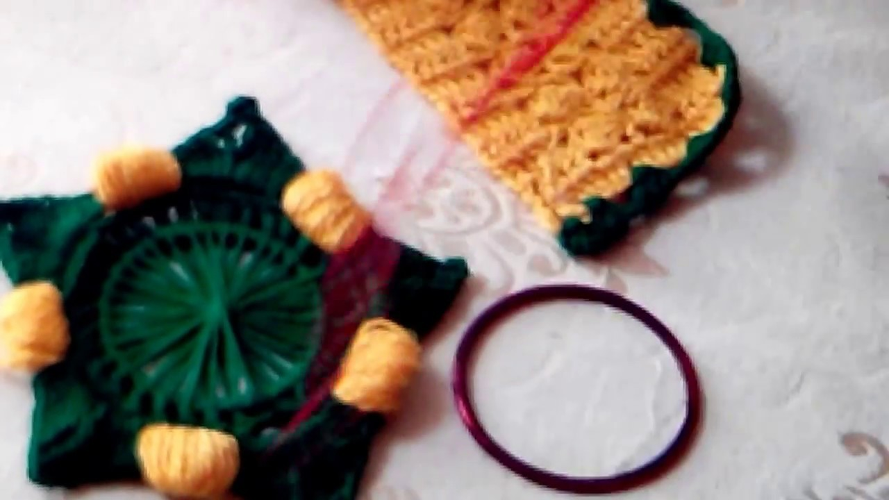 How to crochet beautiful flowers.reuse old bangles