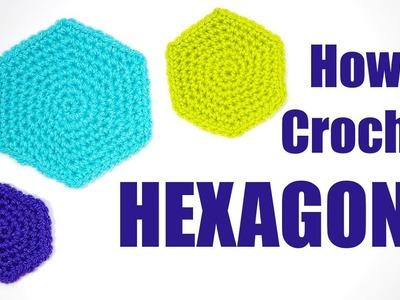 How to Crochet HEXAGONS - Yay For Yarn