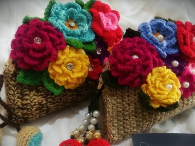 How To Crochet Round Hand Clutch( part 2)