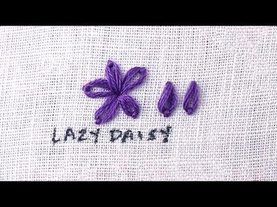 How to do a Lazy Daisy Stitch