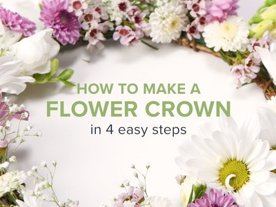 How to Make a Flower Crown in 4 Easy Steps