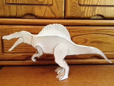 How to make a homemade Spinosaurus out of cardboard part 3
