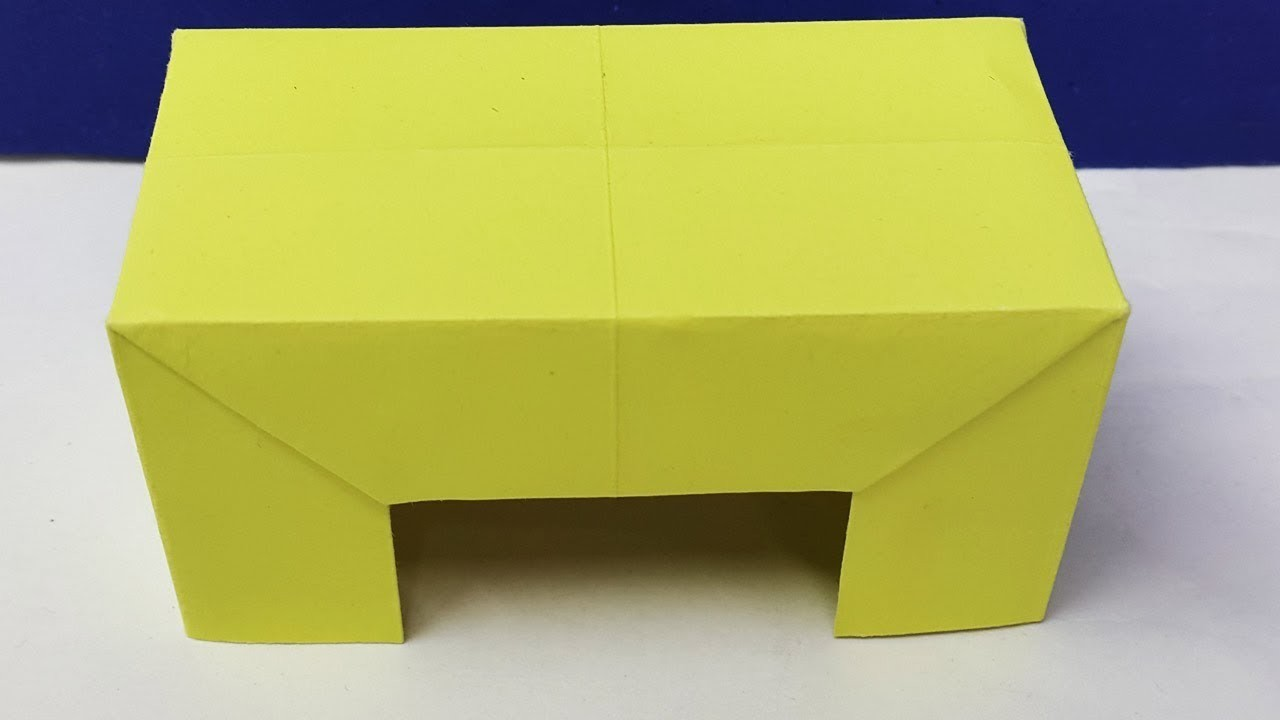 How to make a paper table? Origami Table Easy learning crafts