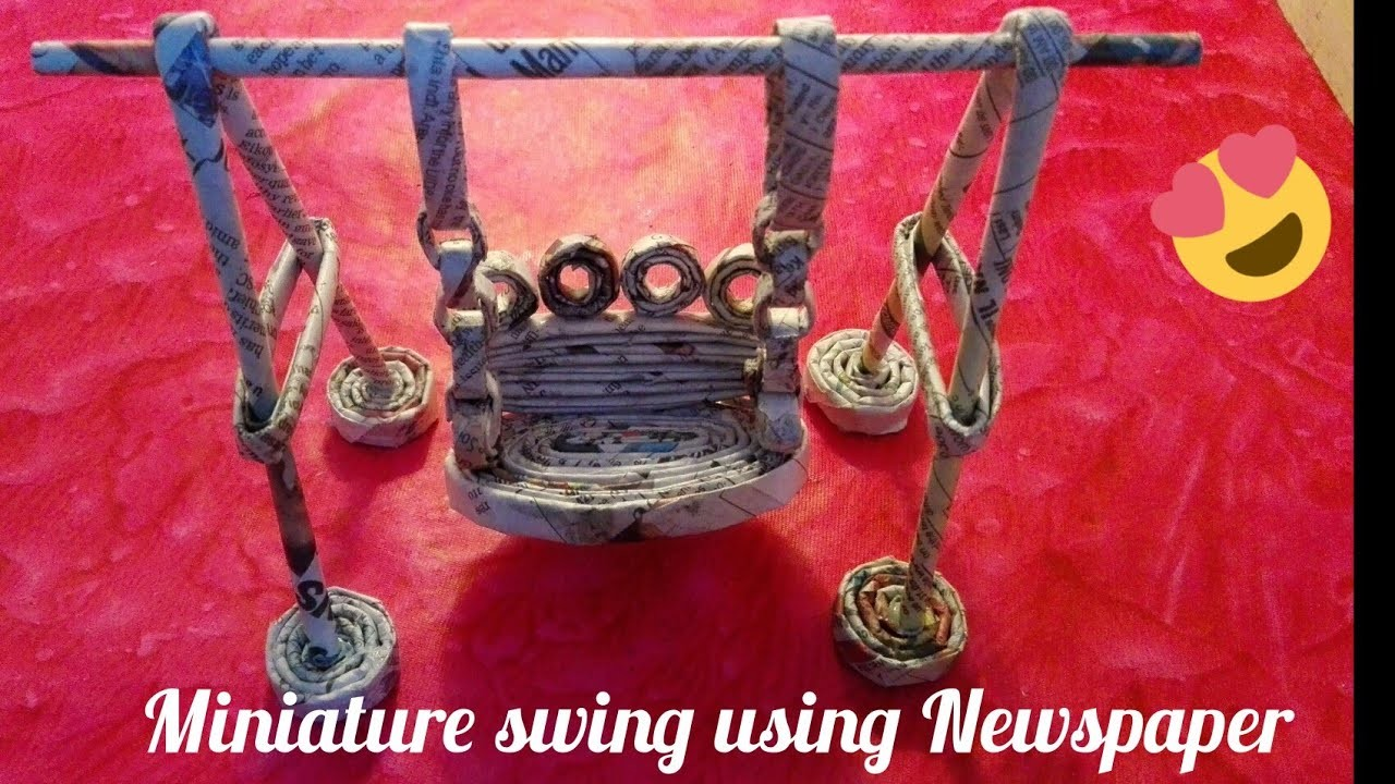 How to make a swing using newspaper|| Make a swing- Best out of waste