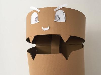 How To Make A Trash Bin From Cardboard