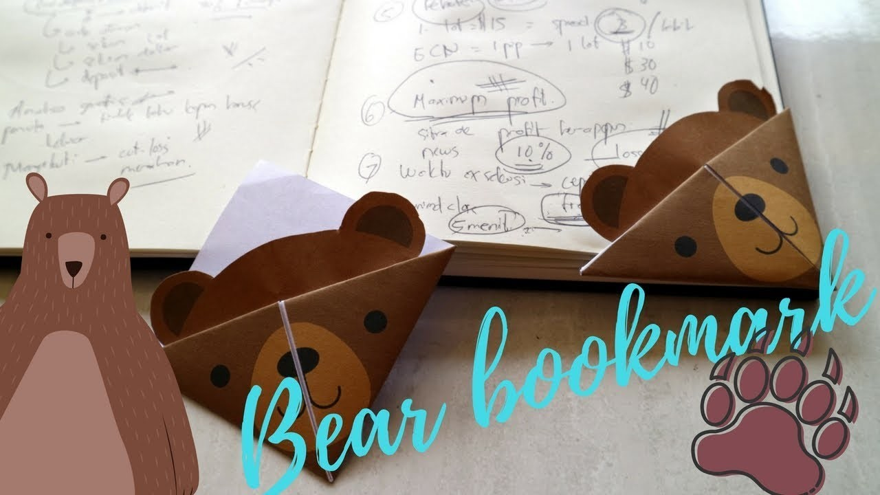 How to make an origami bear bookmark