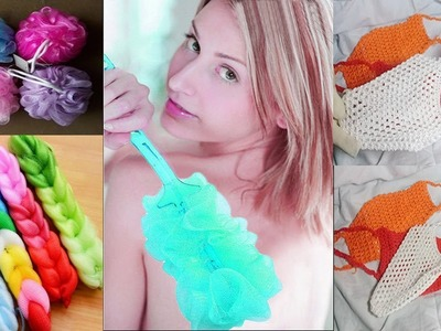 How to make Body Washing Sponges || Make Net Body cleaning || Body wash net .