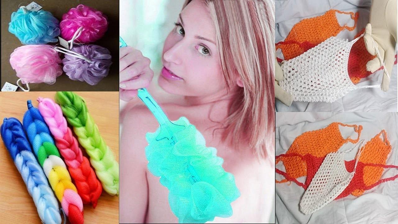 How to make Body Washing Sponges || Make Net Body cleaning || Body wash net .