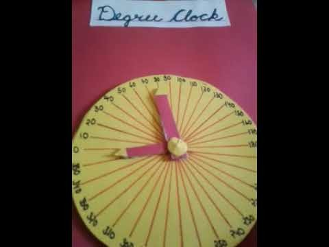 How to make degree clock with cardboard and colurefull pepper
