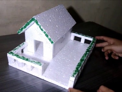 How to make easy Thermocol house !