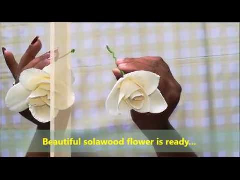 How to make flower with sola wood paper.