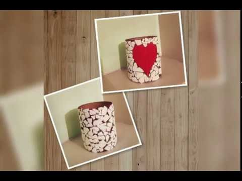 How To Make Pretty Egg Shell Pen Holder.Recycled Crafts.