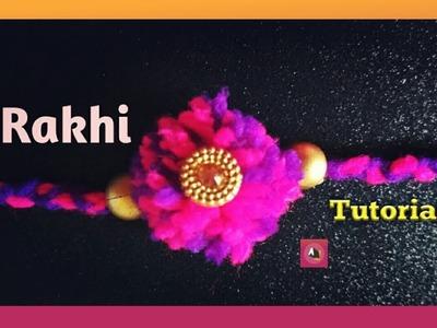 How to make rakhi with wool.DIY rakhi for raksha bandhan. Rakhi making ideas at home