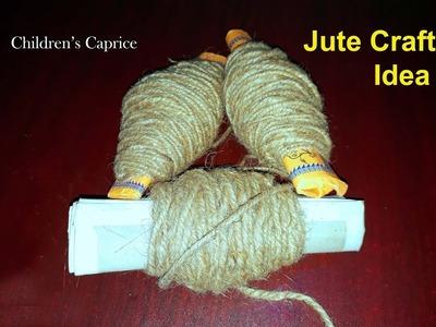 How To Make Rug, Carpet, Table Mat & Door Mat Using Jute | Jute Craft Idea