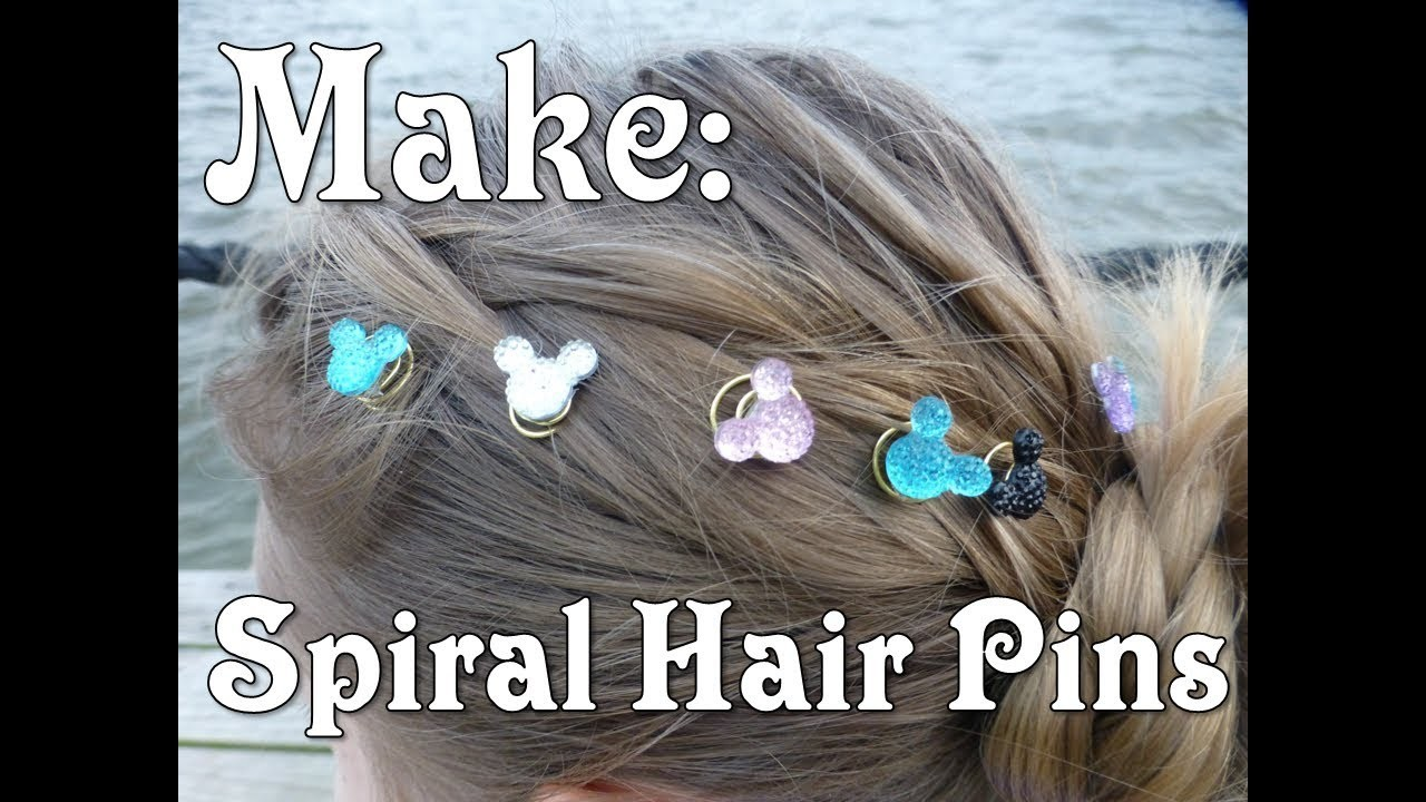 How to Make Spiral Hair Pins