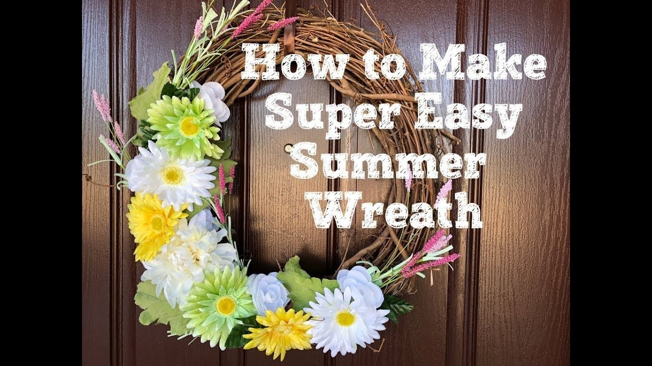 How to Make Super Easy Summer Wreath