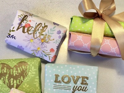 How To  Wrap and Emboss  Soaps : Gift Idea