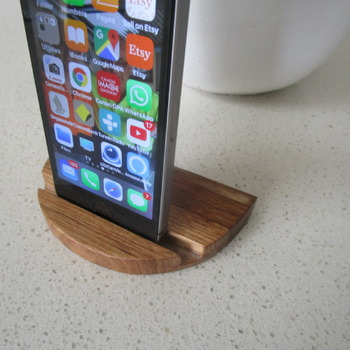 iPhone stand solid Australian timber