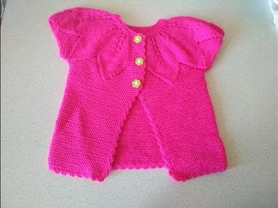 Knitting baby kardigan for beginers step by step. Part 4