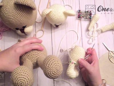 Sewing Together an Amigurumi
