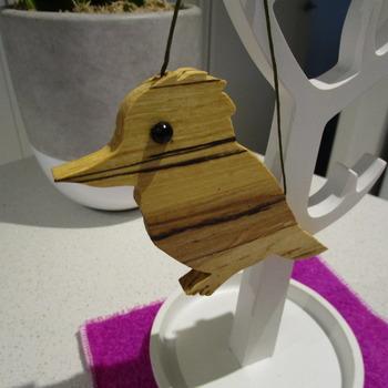 Solid Tasmanian Sassafras timber Kookaburra handmade