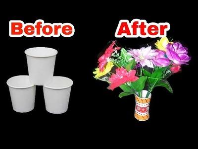 चाय के खाली कप से सुंदर गमला कैसे बनाये।how to   Waste tea cups craft | Gk craft