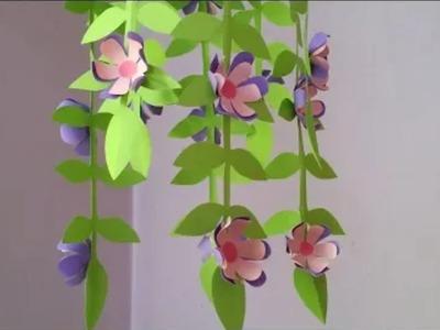 কাগজ দিয়ে সুন্দর ঘর সাজানো শিখুন ||Home Decoration idea ||  How to Make Beautiful Flower || Hand Art