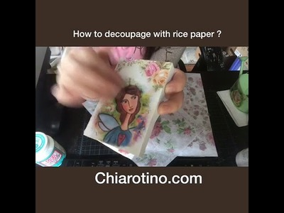 What's rice paper ,how to decoupage with rice paper on glass bottle and wood surface !