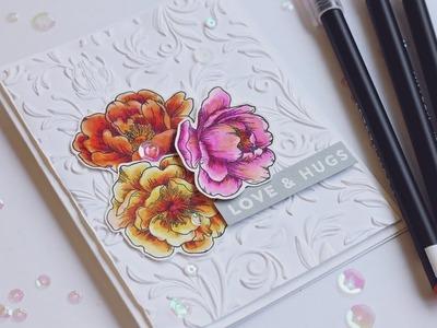 Arteza Marker Coloring and Tim Holtz 3D Folder - Simon's June Card Kit