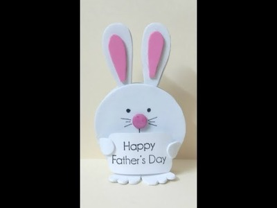 Best out of Waste, Easy and Creative Summer Camp Activities for Kids(2018), Cute Bunny Plaque Holder