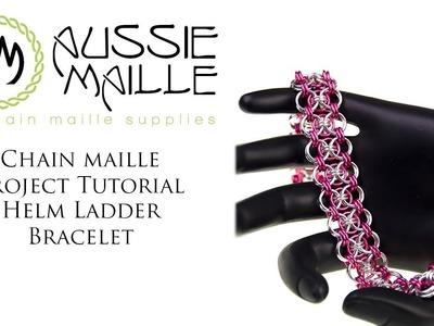 Chain Maille Tutorial - Helm Ladder Bracelet