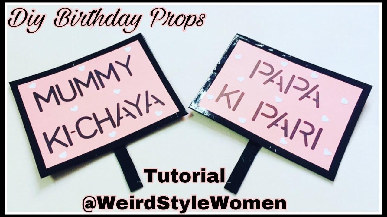 DIY Birthday Props | DIY Party Props | DIY Wording Props