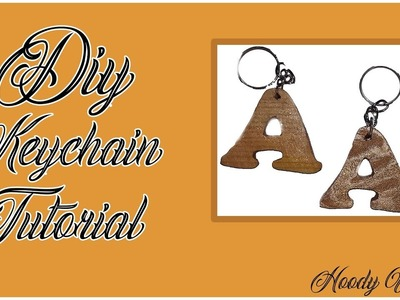 Diy Keychain Tutorial-Easy Handmade Wooden Keychain-How to Make-Fun Craft Project