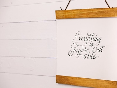 DIY Magnetic Wooden Wall Frame