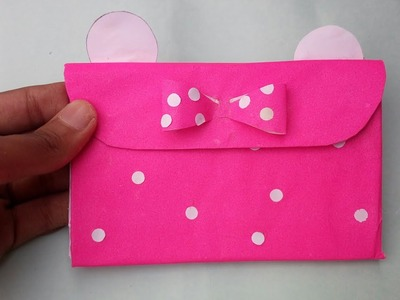 DIY Minnie Mouse Purse||Out of paper||Prachi Muskan Crafts