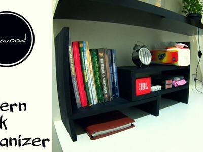 Diy Modern Desk Organizer | Coated with Black Matt Paint
