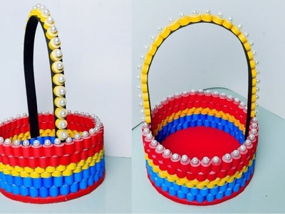 DIY | Paper Basket | Quilling Basket | Easy Paper Craft |
