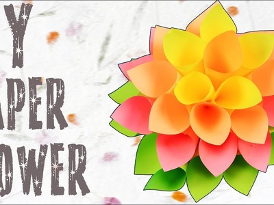 DIY Paper Dahlia Flower Tutorial | How To Make Paper Flower | Paper Craft Ideas | Crafts Hacks Video