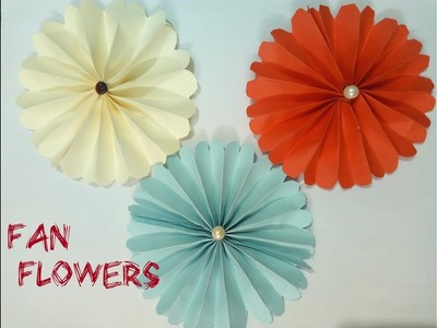 DIY Paper Fan Flower 2018.Art, craft and Health