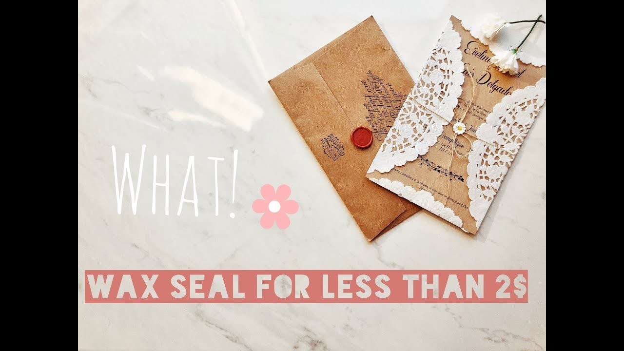 DIY WAX SEAL WITH CRAYOLA FOR LESS THAN 2$