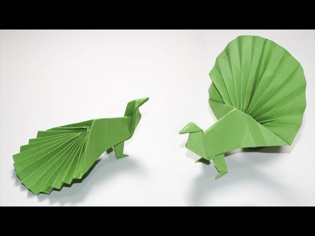 Easy Origami for kids How to make a paper Peacock
