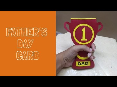 Father's Day craft for kids. Super simple paper trophy card kids can make.