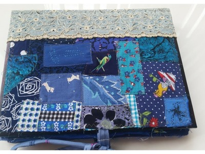 Handmade fabric sample book - 50 Shades Of Blue (SOLD)