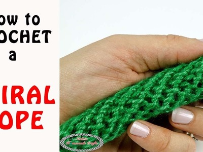 How to Crochet a SPIRAL ROPE