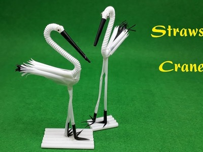 How to Fold a Straws Crane - Straws Art Tutorial